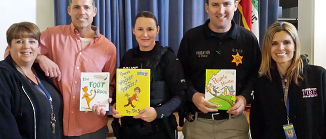 Thank you to the fire department for donating these meaningful books to our students.